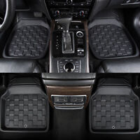 Car Floor Mats Universal Square Black Front With Rear 4PC Non-Slip for SUV Sedan