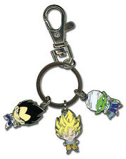 **License** Dragon Ball Z Metal Keychain SD Son Goku Vegeta & Piccolo #4793