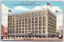 The New Rike-Kumler Company Building in Dayton, Ohio Linen Postcard