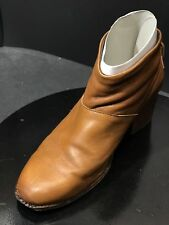 TOMS WARM TAN LEATHER WOMEN'S LEILA BOOTIES SIZE US 11 M/EUR 42.5
