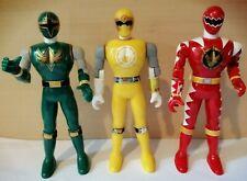 "Power Rangers Jungle Fury 5"" Figures Bundle x3 Bandai 2003 Red Green Yellow"