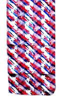 SCARF Red & Blue On White Background Patriotic Look STARS & STRIPES FOREVER!