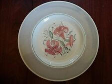 RARE ANTIQUE SUSIE COOPER BURSLEM CROWN WORKS PINK FLORAL PLATE ART DECO ENGLAND