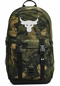 Under Armour Project Rock Brahma Laptop Bag Waterproof Backpack Camo Black NEW