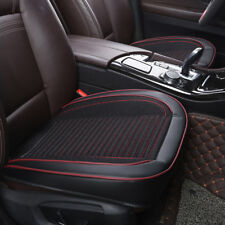 Black Universal Car SUV PU Leather Front Seat Cover Protector Cushion Covers Pad
