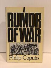A Rumor Of War Philip Caputo 1st Edition