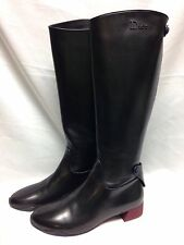 Dior Frontier Knee High Riding Boots 40 Black New w/ Box 100% Authentic