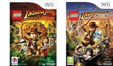 LEGO INDIANA JONES 1 nessun manuale & LEGO INDIANA JONES 2 Wii PAL CON MANUALE