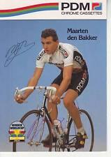 CYCLISME carte cycliste MARTIN DEN BAKKER équipe PDM signée