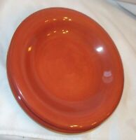 """6 Tabletops Unlimited ESPANA Handpainted  9-1/4"""" Luncheon Thick Plates NEW red"""