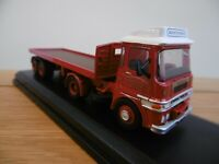 OXFORD Hayton Coulthard ERF LV tractor unit and flatbed trailer 1:76 scale