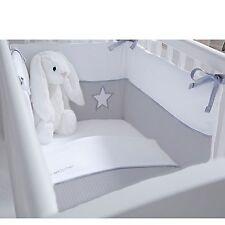 Clair De Lune Silver Lining 2 Piece Rocking Crib Quilt & Bumper Bedding Set Grey