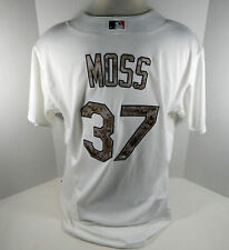 2015 St. Louis Cardinals Brandon Moss #37 Game Issued White Camo Jersey