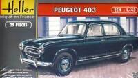 Heller - Peugeot 403 Francia Modello Kit 1:43 NUOVO OVP punta Berlina 1955