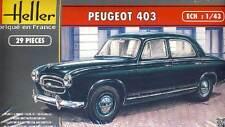 Heller - Peugeot 403 Francia modelo equipo de construcción 1:43 punta Sedán 1955