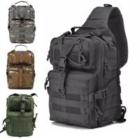 Military Tactical Sling Backpack Bag Army Molle Waterproof EDC Rucksack Outdoor