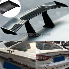 Universal Mini Carbon Fiber Pattern Spoiler Car Rear Tail Wing Auto Decoration