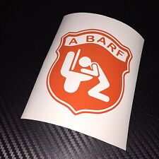 ORANGE A BARF Car Sticker Decal Funny Fun Rat Look Fiat Abarth Panda 500