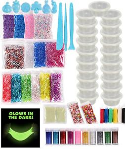 Slime Accessories Art Craft Glitter Storage, Glow In Dark, Tools, Clay AUCTION