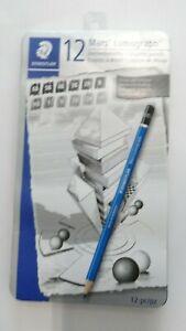 Staedtler Mars Lumograph Design & Drafting Graphite 12 Pencil Set + Storage Tin