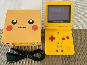Nintendo Game Boy Advance GBA SP Custom Pikachu Yellow System AGS 001 NEW MINT
