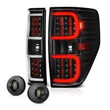 """09-14 Ford F150 """"LED PLASMA TUBE"""" Black Brake Tail Lamp SMD License Plate Light"""