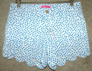"""LILLY PULITZER Ladies Stretch Twill Buttercup Shorts  """"LILLY'S DOT""""  Size 12 NWT"""