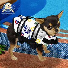 PAWS ABOARD X-Small Dog Life Jacket Swim Preserver Vest NAUTICAL 6-15 lb XS NEW!