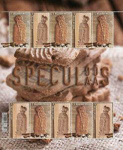 Belgium Gastronomy Stamps 2020 MNH Speculoos Speculaas St Nicholas 10v M/S