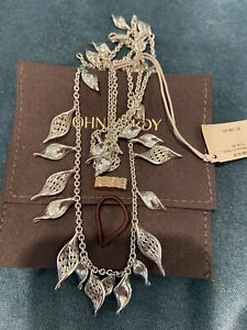 New $ 1300. John Hardy Classic Chain Wave Sterling Silver Necklace