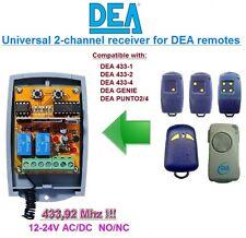 DEA 433-1,2,4 DEA GENIE, DEA PUNTO 2/4 compatible universelle 2-canaux Récepteur