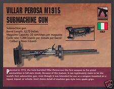 VILLAR PEROSA M1915 SUBMACHINE GUN 900 Italy Atlas Classic Firearms PHOTO CARD