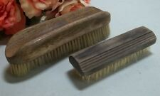 Pair of vtg horse hair brushes.Large one is CH.Loonen Maker made in France