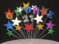 Birthday Cake Topper Decoration 18th 21st 30th 40th 50th 60th 70th Any Age/Name