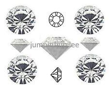 18ss 4.3mm Crystal Clear Swarovski 1028 Chaton Pointed Back Rhinestone 72 pieces