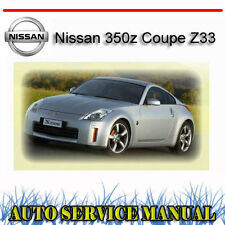 Nissan 350z Coupe Z33 2003-2009 SERVICE REPAIR MANUAL ~ DVD