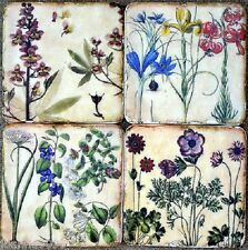 Gisela Graham Shabby Chic Vintage Flower Floral Ceramic Coasters Drinks Mat X4