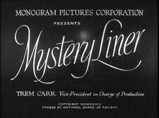 MYSTERY LINER, 1934, Noah Beery, EDGAR WALLACE crime thriller: DVD-R Region 2