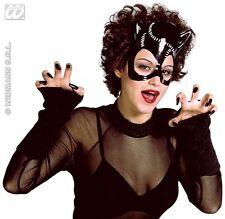 Black Plastic Cat Mask Cat Woman Batman Catwoman Halloween Fancy Dress