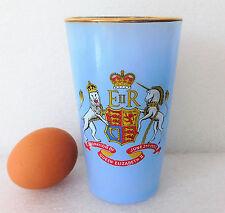 Blue coronation glass Vintage 1950s Royal Family Queen Elizabeth Southampton