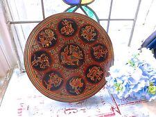 Vintage Asian oriental Burmese LACQUERED BOX-Burmese lacquerware box - 7 parts