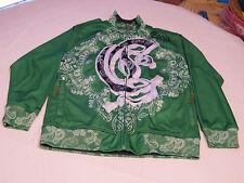 Coogi Men's long sleeve jacket coat S casual polyester green white EUC @