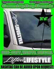 LIFTED LIFESTYLE VERTICAL Windshield Vinyl Decal Sticker DIESEL TRUCK Car Turbo