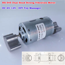 DC 6V-12V Strong Vibration Mini RS-545 Vibrator Motor Dual Head DIY Toy Massager