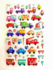 Vehicles & Car Decorative 3D Glitter Stickers for Children & Card Making RCV7103