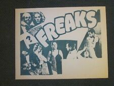 Freaks - Movie Herald - Tod Browning