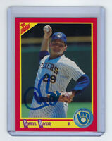 1990 BREWERS Chris Bosio signed card Score #283 AUTO Autographed Milwaukee