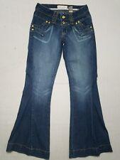 EUC BABY PHAT Denim Jeans Size 5 Bell Stretch Distressed 31W 33.5L 8Rise J1