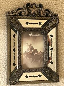"""Western Themed Picture Frame by Montana West w/ Stars & Barbed Wire 4""""x6"""""""