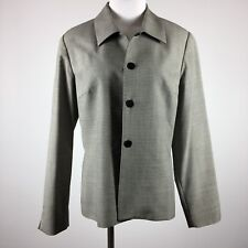 Austin Reed womens blazer size 10 4 button career vtg lined small houndstooth